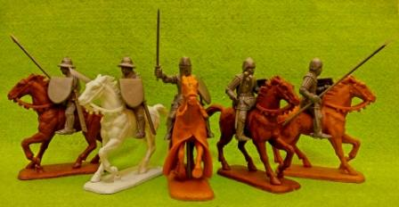 Hknights set 5 FRENCH HOBILARS & MOUNTED SERGEANTS